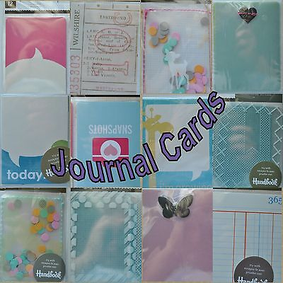 40 Journal Cards mixed colors sizes themes Recollections DCWV Colorbok New
