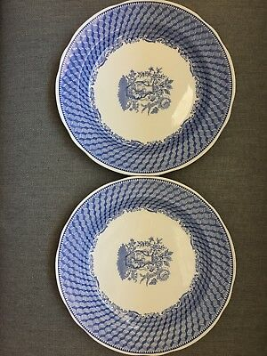 """Spode Blue Room Collection """"Portland Vase"""" Blue and White Collectors Plates (2)"""