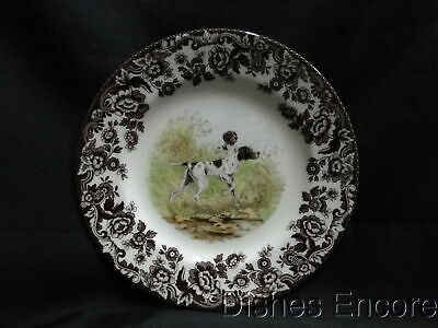 "Spode Woodland Flat Coat Pointer Hunting Dog: Salad Plate (s) 7 3/4"", NEW w/ Box"