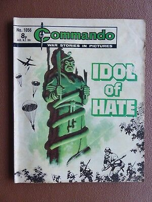 No 1056 from 1976 Idol of Hate Commando Comic War Stories in Pictures.