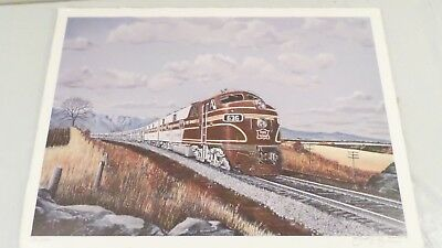 1981 Stewart Buck Signed #'d Rock Island Railroad Train Art Print 13.5x19""