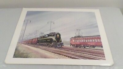 1979 Gil Reid Pennsylvania Railroad Train Art Print 16x22""