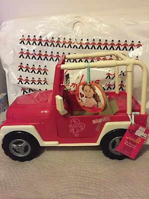 """NEW! Our Generation My Way and Highways 4x4 Jeep Pink and White - Fits 18"""" Doll"""