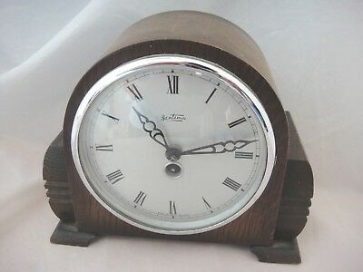 Vintage Wooden Cased Bentima Mantel Clock for Parts or Restoration