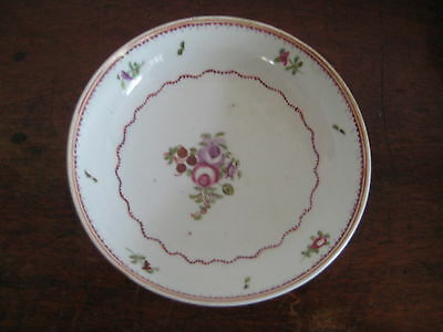 English Late 18Th Century Hand Painted Saucer Bowl Very Pretty