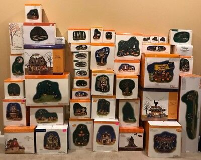HUGE Lot of 42 Department 56 Halloween & Snow Village Pieces | Some Retired