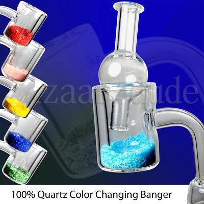 100% Quartz Thermal Banger | Color Changing Thermochromic | ALL Sizes | Carb Cap