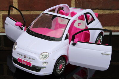 barbie fahrzeug fiat 500 cabriolet cabrio 2 t ren zum. Black Bedroom Furniture Sets. Home Design Ideas
