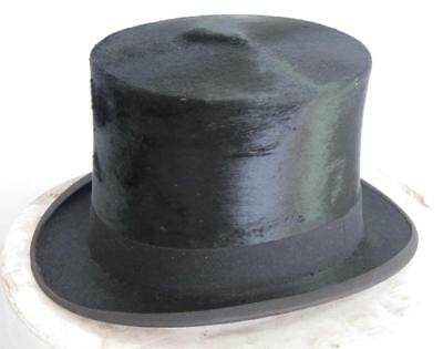 GOOD QUALITY LARGE VINTAGE TOP HAT size 6 7/8 uk 56 usa in LOCK & CO HAT BOX
