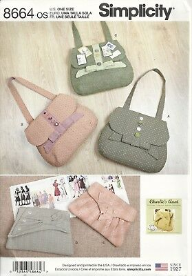 SIMPLICITY 8664 Charlie's Aunt BAGS IN 4 STYLES SEWING PATTERN