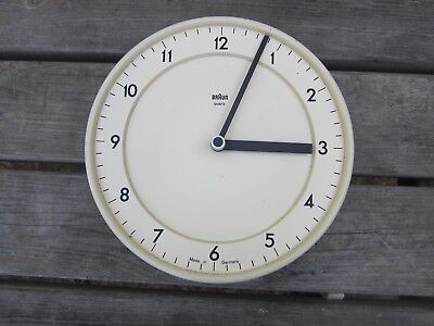 Vintage 70s 80s Braun Battery wall clock Dieter Rams Retro Quartz