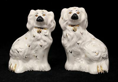 Pair Of Vintage ROYAL DOULTON Ceramic WALLY DOGS/SPANIELS For Mantel - B22
