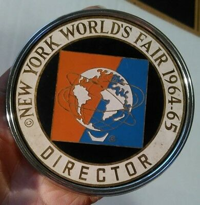 Vintage New York Worlds Fair License Plate Topper