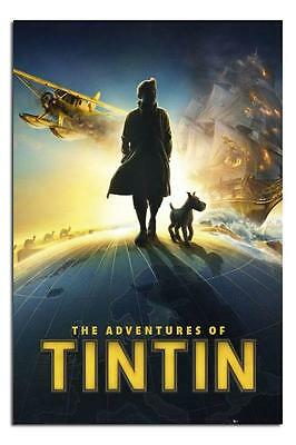 The Adventures Of Tintin Officail Cinta VHS Teaser Póster Nuevo y sin Abrir