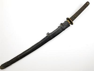 Original WWII IMPERIAL JAPANESE KAIGUNTO NAVY OFFICER SWORD with COMBAT COVER