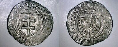 1449-1492 German States Prussia 1 Shilling World Silver Coin - Jagiellonian Rule