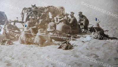 WW1 Palestine/Middle East War - two Wagon team meal Desert photo 11 by 6.5cm