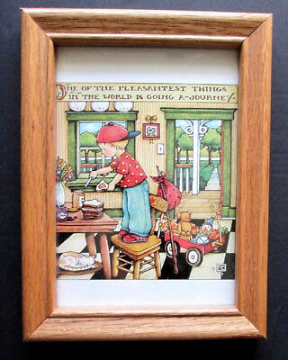 Mary Engelbreit One Of The Pleasantest Things..going A Journey Me Framed Print