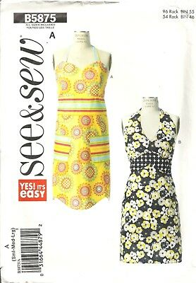 BUTTERICK See&Sew B5875 APRONS SEWING PATTERN