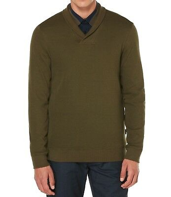 Perry Ellis NEW Green Mens Size Large L Pullover Shawl Collar Sweater  69   009 781b1c011