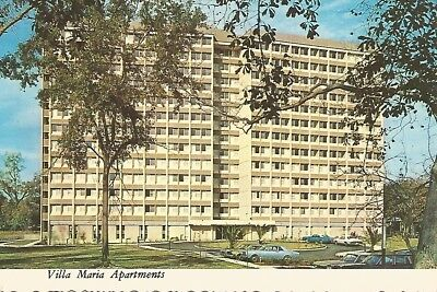 Ocean Springs MS Villa Maria Apartments Continental Postcard 1971