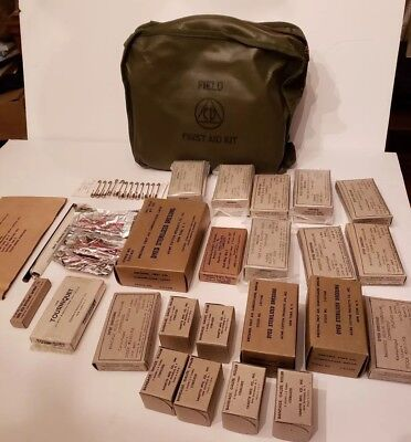 Vintage Cold War Atomic Bomb Civil Defense Field First Aid Kit 1950's