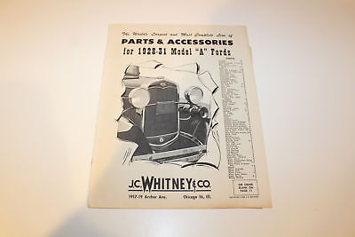 """Vintage 1962 J.C. Whitney Parts & Accessories for 1928-31 Model """"A"""" Ford Catalog"""