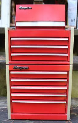 2 Piece,8 Drawer  SNAP ON TOOLS MINIATURE TOOL BOX,CHEST,Classic Red.Jewelery?
