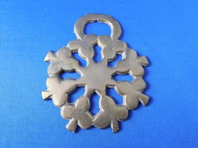 Clubs Snowflake Pattern Horse Harness Bridle Parade Medallion Brass