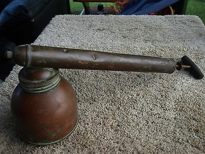 Antique Copper Brass and Wood Garden Bug Sprayer