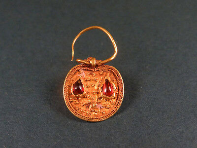 Ancient Gold & Garnet Earring / Ornament Roman 100-300 Ad