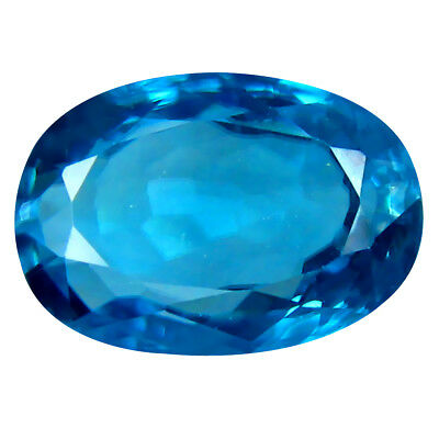 2.98 ct Superb Oval Cut (9 x 7 mm) Cambodian Blue Zircon Natural Loose Gemstone