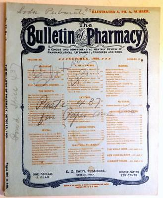 1906 Pharmacy Soda Fountain Magazine Cocaine,Quack Medicine, Waterman Pens etc.