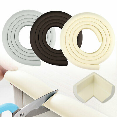 2M Baby Safety Table Desk Edge Guard Strip Bumper Protector + 4 Corner Cushion