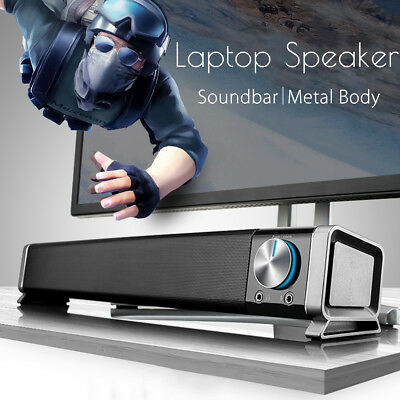 "18.5"" USB Portable Soundbar Speaker Subwoofer TV Home Theater Computer Laptop PC"