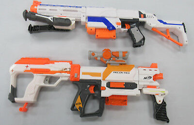 Lot of 2 Nerf Guns Working w/Darts Modulus Recon MkII & N-Strike Retaliator USED