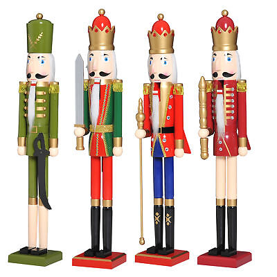 "42"" Wooden Christmas Nutcracker Puppet Toy Soldier Handcraft Decorations Gift"