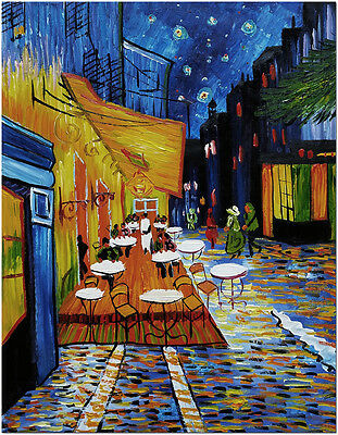 """Cafe Terrace at Night - Hand Painted Van Gogh Oil Painting Wall Art 20x24"""""""