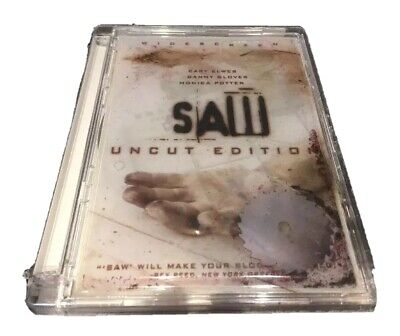 Saw Uncut Edition, Horror DVD (2 discs), Widescreen New Factory Sealed Movie NEW