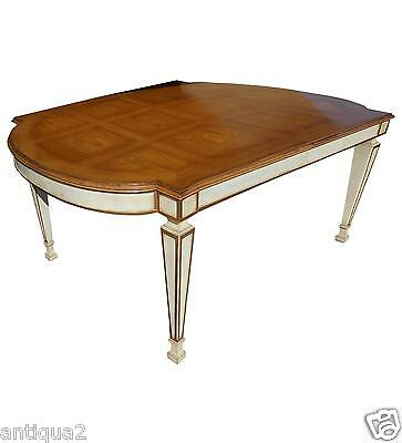 Painted Karges French Parquetry Regency Styl Neoclassical Dining Expanding Table