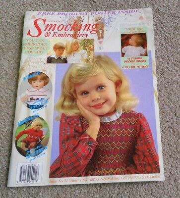 Australian Smocking & Embroidery - Issue No 21- Winter  1992- Scarce