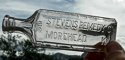 ca 1890s MOREHEAD KENTUCKY KY (ROWAN CO) STEVENS REMEDY CO DRUG MEDICINE  BOTTLE