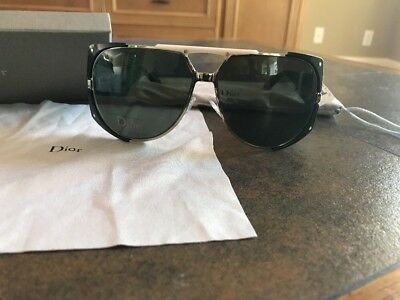 507b1e63faf7 NIB CHRISTIAN DIOR ENIGMATIC Aviator Moss Green Silver Sunglasses PGD85 62  mm