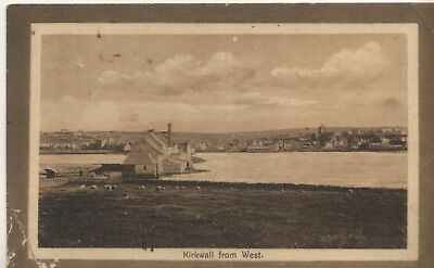 Postcard. Kirkwall from West