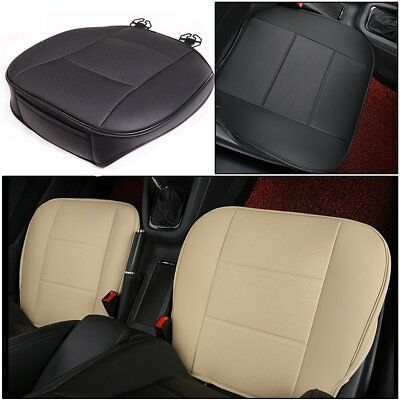 Auto Car Front Seat Cover Protector Cushion Black PU Leather Waterproof Pad Mat