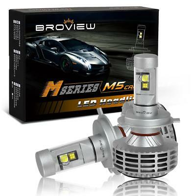 Broview M5 Canbus H4 9003 HB2 6000LM Dual Beam Cree LED Headlight Bulb 5 Color