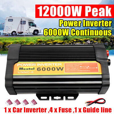Power Inverter Peak 2000/3000/4000/8000/10000/12000W 12V To 110V Modified Sine