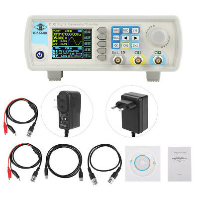 JDS6600 60MHz Dual Channel Arbitrary Waveform DDS Signal Generator Pulse 14bits