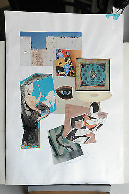 Franco Asinari - Collage Originale  Del 1991 - Splendido