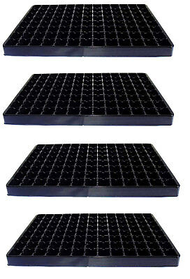 Set of 4 x Large 104 Cell Plant Plug Trays - Vegetable Seed Inserts Propagation